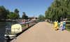 Footpath by River Avon at Stratford Upon Avon Warwickshire