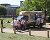 Ice Cream van at Stratford Upon Avon Warwickshire