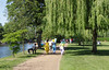 Footpath by River Avon at Stratford Upon Avon Warwickshire