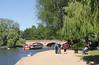 River bank and Tramway Bridge Stratford Upon Avon
