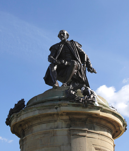 Statue of William Shakespeare Stratford Upon Avon Warwickshire