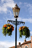 Hanging flower basket Market Place Wallingford Oxfordshire