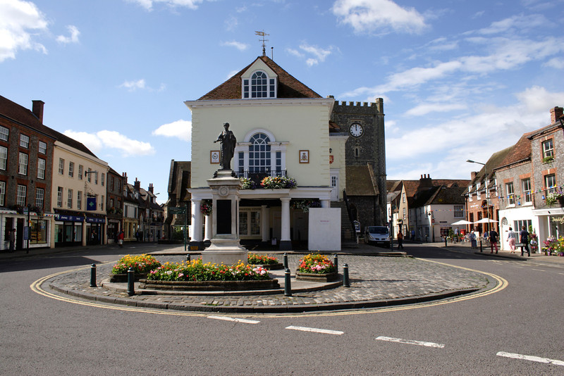 Market Place and Town Hall Wallingford Oxfordshire