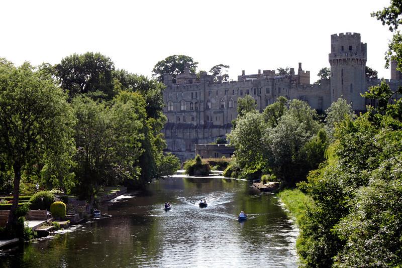 River Avon and Warwick Castle Warwickshire