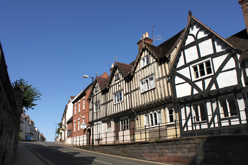 Tudor timber framed houses High Street Warwick