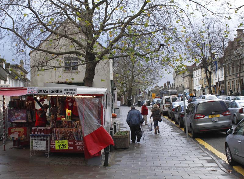 High Street and Christmas card stall Witney November 2009