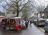 High Street and Christmas card stall Witney November 2009