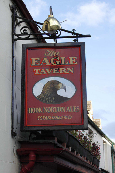 The Eagle Tavern pub sign Witney Oxfordshire