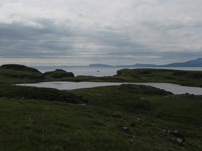 Rubh an Dunain - peninsular walk from Glenbrittle - Islands of Eigg & Rum in distance