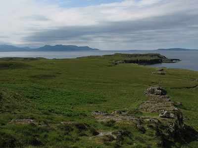 Rubh an Dunain - Islands of Rum & Canna in distance