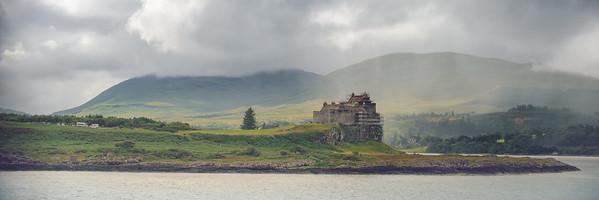 Duart Castle Rain