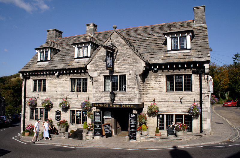 Bankes Arms Hotel at Corfe Castle Village Dorset