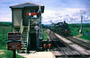 Steam locomotive entering Harmans Cross Station Dorset