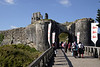 Entrance gate to Corfe Castle Dorset UK<br /> NOT FOR SALE