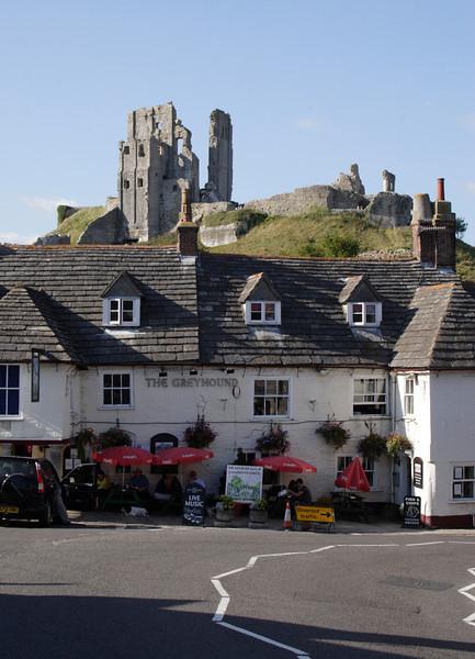 The Greyhound Pub at Corfe Castle Village Dorset