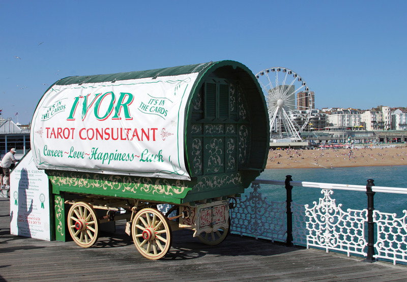Ivor Tarot Consultant on Brighton Pier Sussex