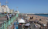 Seafront and beach at Brighton Sussex