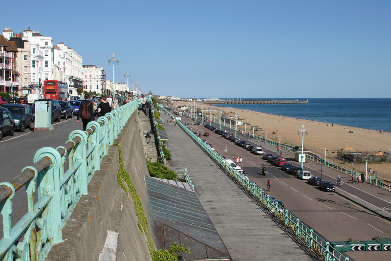 View of Madeira Drive at Brighton seafront Sussex