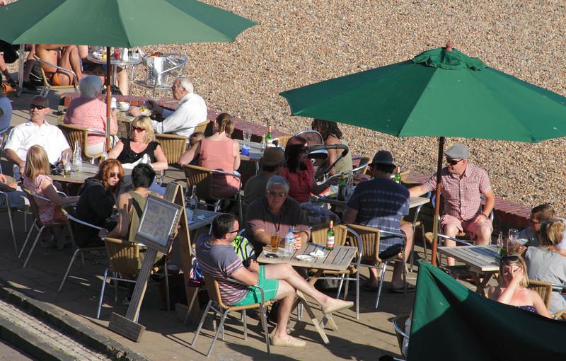Beach bar at Brighton beach Sussex