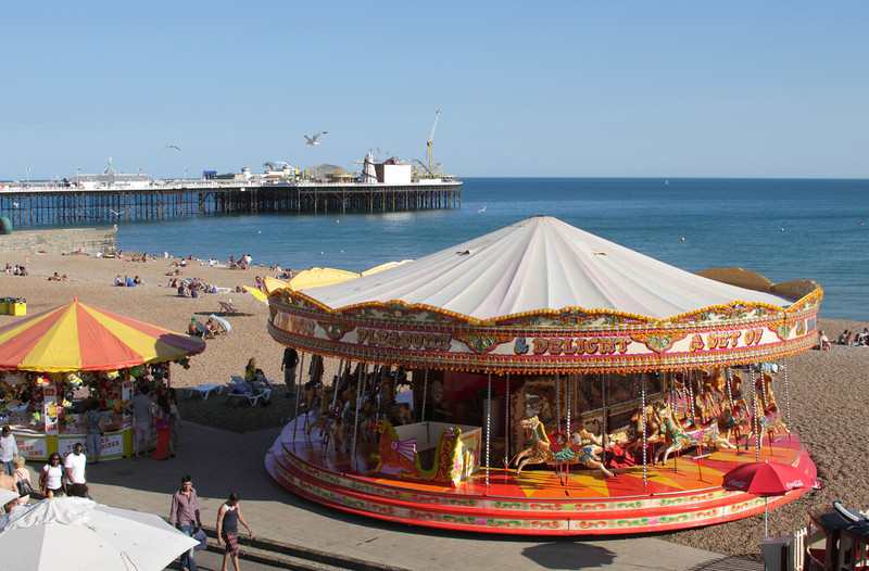 Merry go Round at Brighton beach Sussex