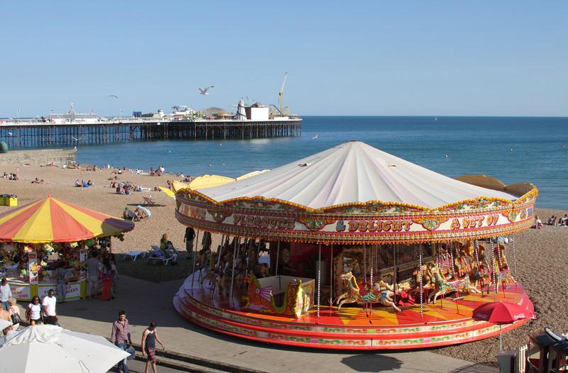 Merry go Round at Brighton beach Sussex