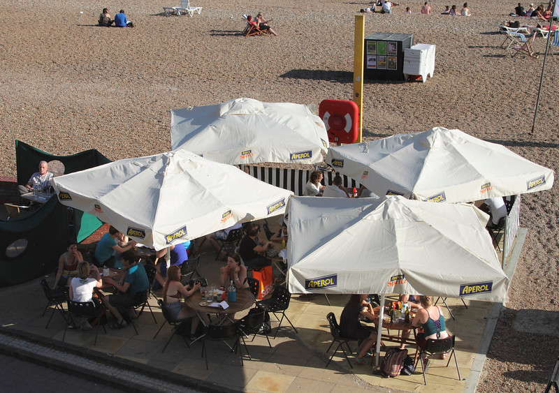 Beach bar at Brighton beach Sussex