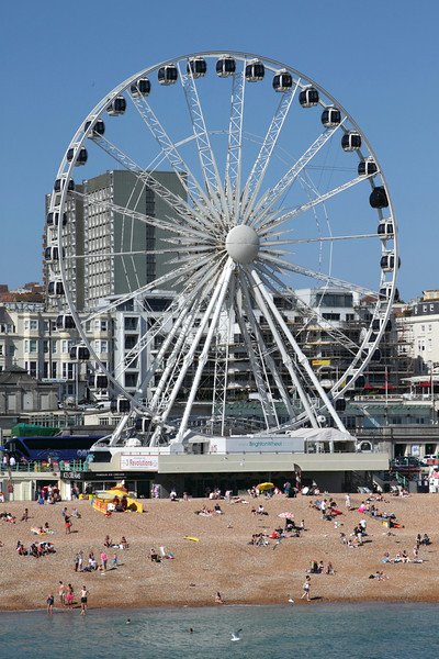 Brighton Beach and the Brighton Wheel Sussex