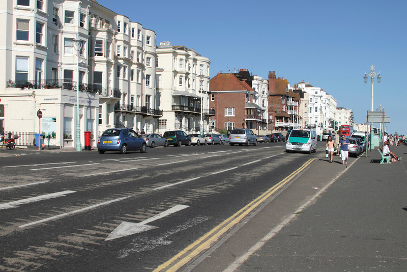 Marine Parade street along Brighton seafront Sussex