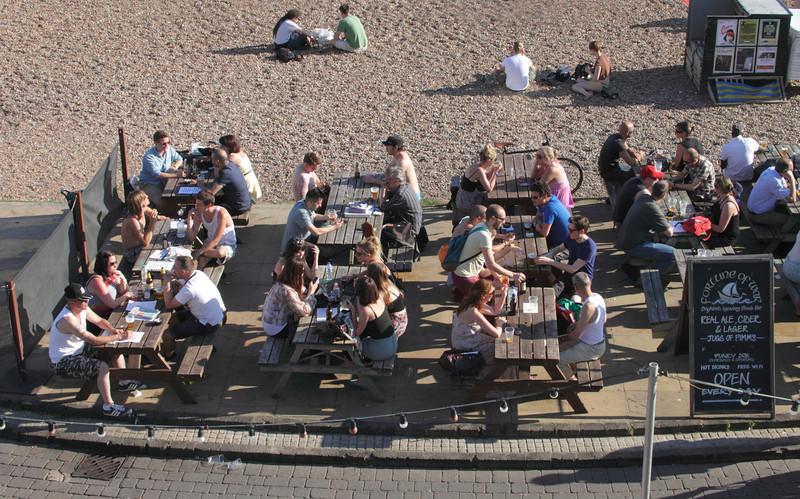 Fortune of War bar at Brighton beach Sussex