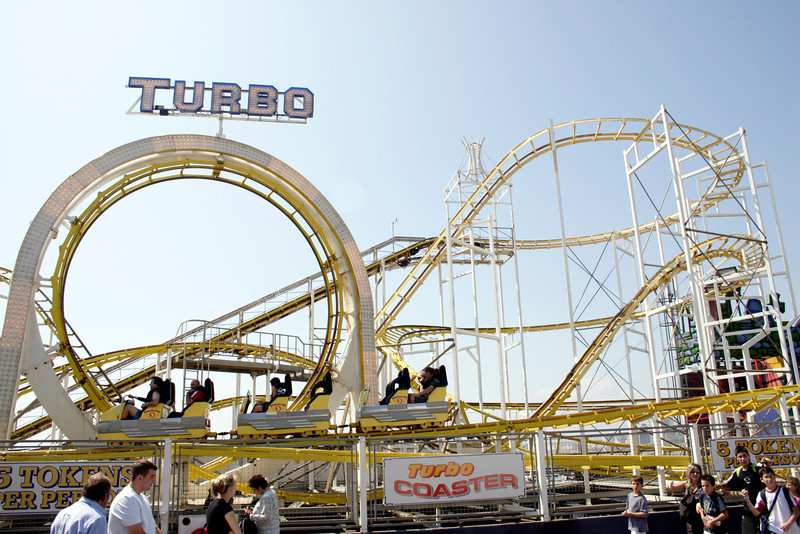 Turbo Coaster on the Palace Pier Brighton