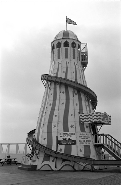 Fairground slide at Palace Pier Brighton
