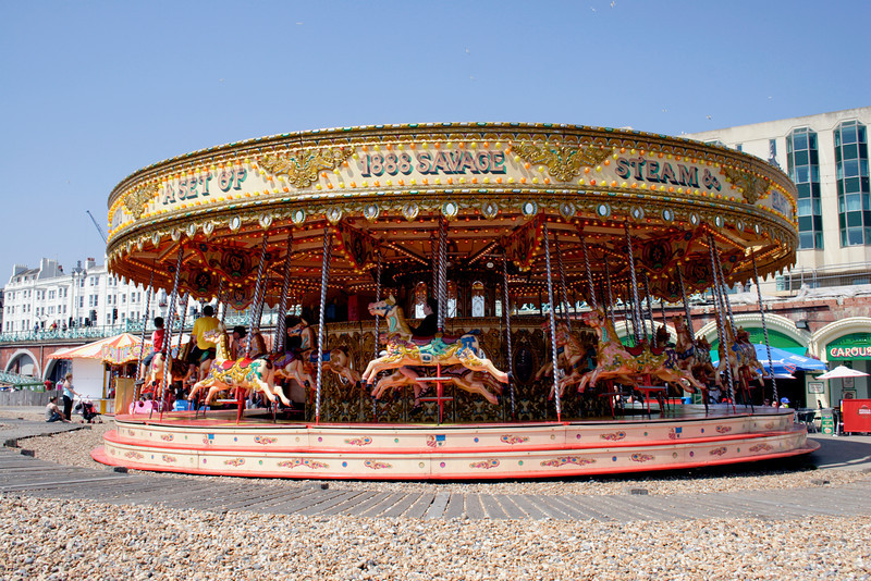 Merry go round at Brighton