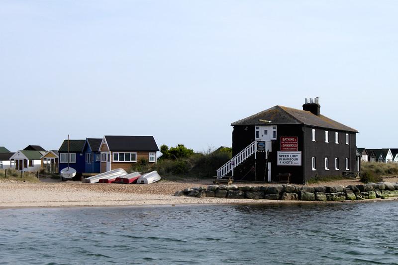 The Black House and beach huts Mudeford Christchurch Dorset