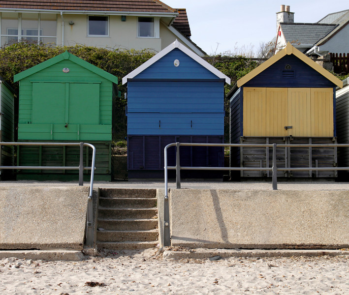 Beach huts Avon Beach Christchurch Dorset