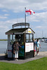 Boat hire ticket office at Christchurch Quay Dorset