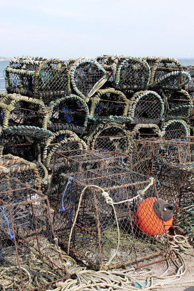 Fishing nets at Mudeford Quay Christchurch Dorset