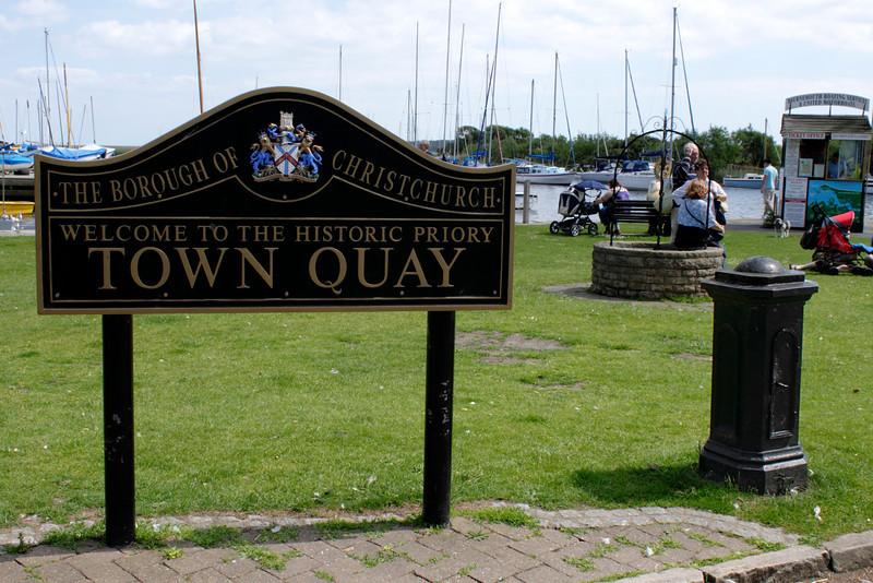Town Quay sign at Christchurch Dorset
