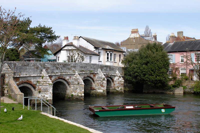 Bridge over River Avon Christchurch Dorset