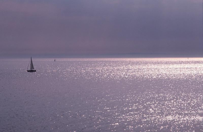 South Coast seascape at dusk Dorset