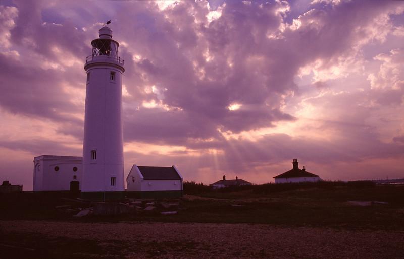 Lighthouse near Hurst Castle Dorset
