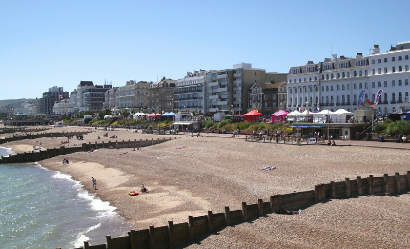 Seafront at Eastbourne East Sussex England