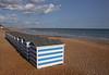 Beach huts  Hastings beach East Sussex