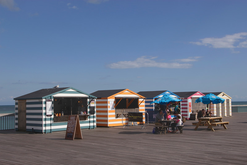 Billycan Coffee shop on new Hastings pier summer 2018