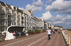 Seafront promenade Hastings East Sussex UK