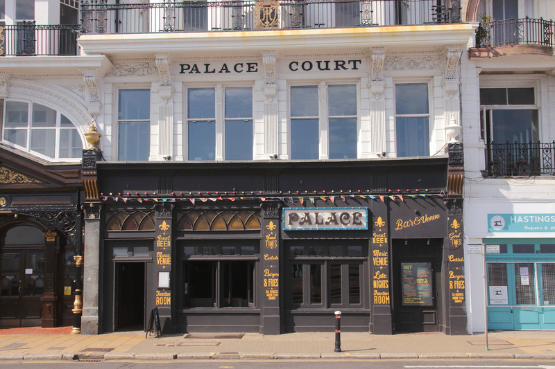 Palace bar at Hastings East Sussex UK