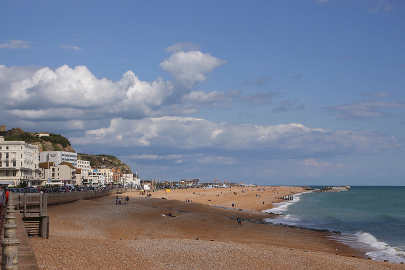 Hastings beach East Sussex UK