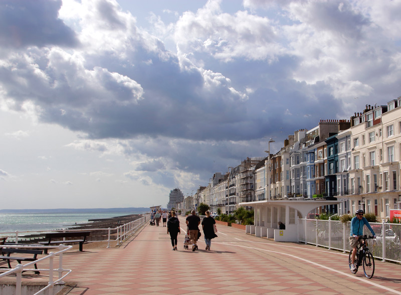 Seafront promenade Hastings East Sussex UK