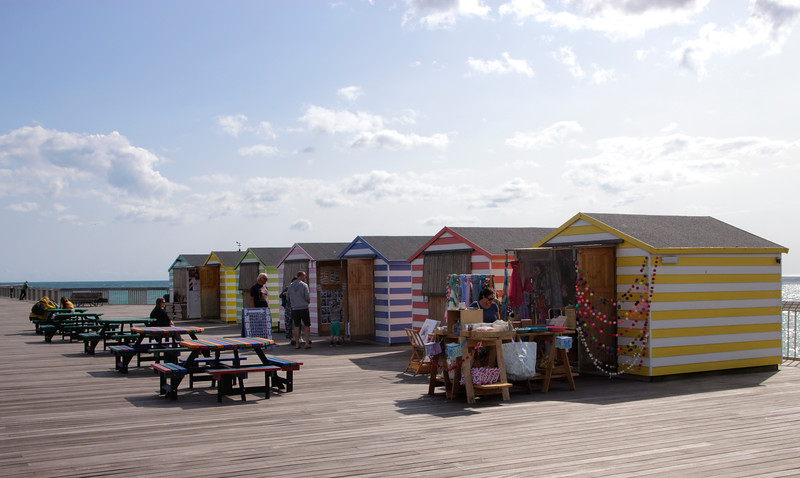 Retail Huts on new Hastings pier summer 2018