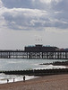 Hastings beach and pier East Sussex UK