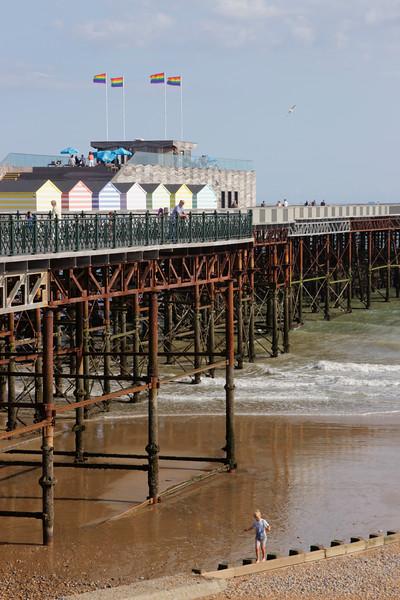 Hastings Pier East Sussex coast summer 2018